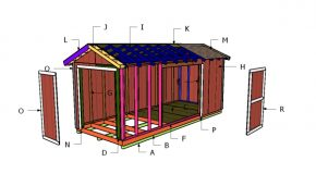 8×20 Gable Shed Roof Plans