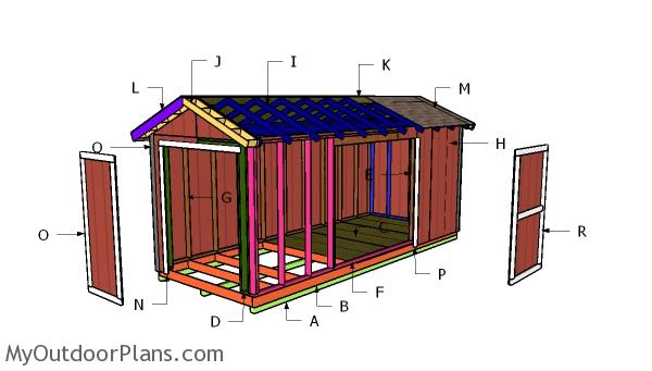 8x20 Gable Shed Roof Plans