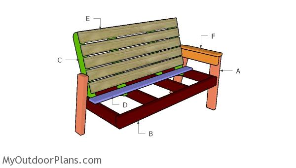 Building a large outdoor bench