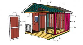 12×12 Shed with Porch Roof Plans