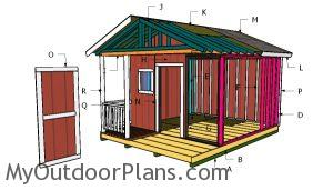 Building a shed with porch
