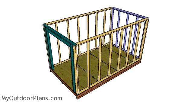 Building the shed frame
