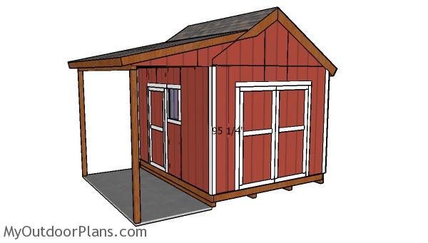 Do It Yourself Home Design: 10x12 Shed With Porch Door Plans