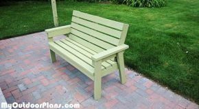 DIY 2×4 Simple Garden Bench