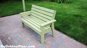 DIY 2×4 Simple Garden Bench