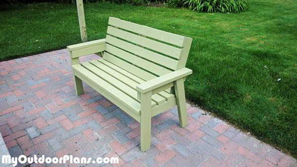 DIY 2x4 Simple Garden Bench | MyOutdoorPlans | Free ...
