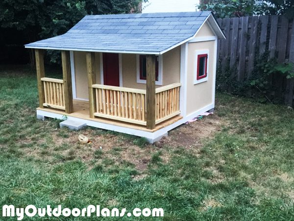 Diy Kids Playhouse Myoutdoorplans Free Woodworking