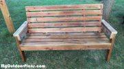 DIY Long Garden Bench