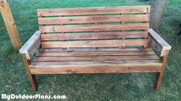 DIY Long Garden Bench