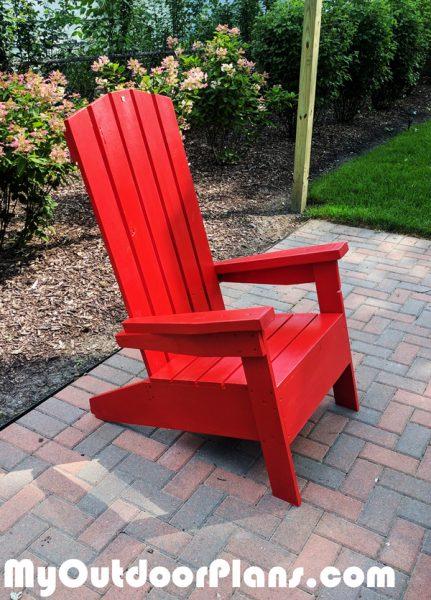 Diy Modern Adirondack Chair Myoutdoorplans Free
