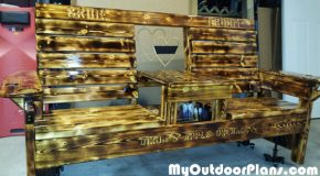 DIY Wedding Double Chair Bench with Table