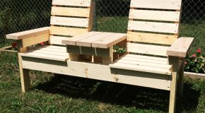 DIY Basic Double Chair Bench with Table