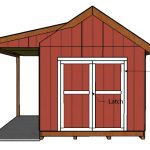10×12 Shed with Porch Door Plans