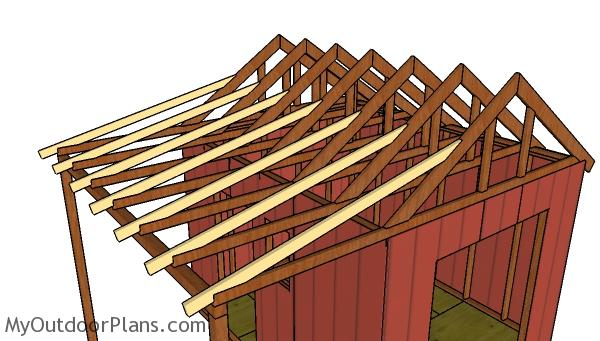 10x12 Gable Shed With Porch Roof Plans Myoutdoorplans