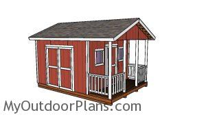 Free 12x12 shed with porch plans
