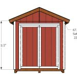 8×14 Shed Doors Plans