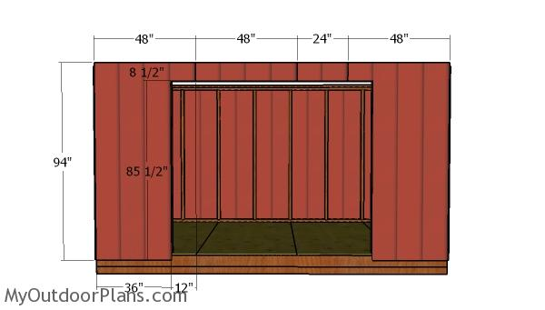 Front wall siding panels