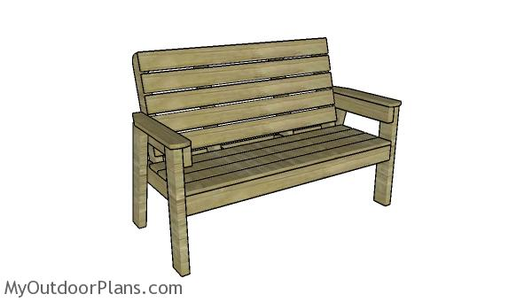 Large outdoor bench plans