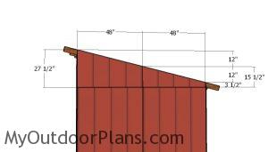 Lean to side panels
