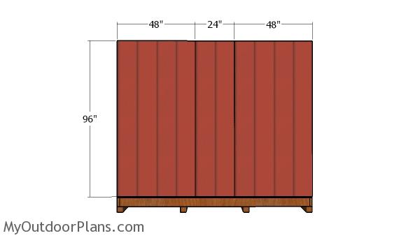 Plain side wall with siding