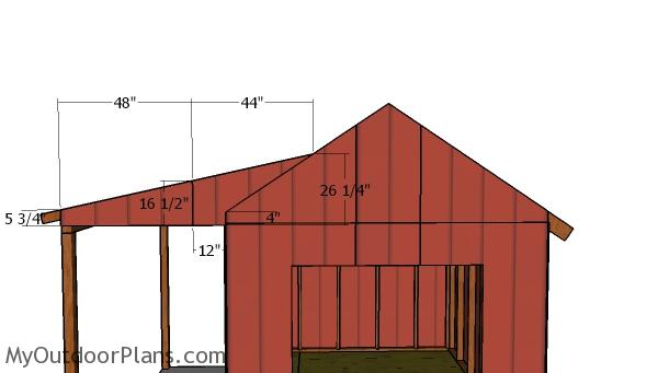 Porch gable end panels