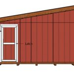 14×16 Lean to Shed Doors Plans