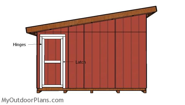 14x16 Lean to Shed Doors Plans