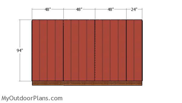 Side panel siding