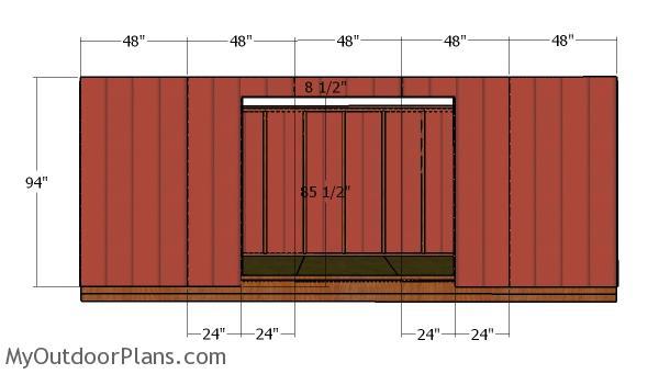 Side siding panels