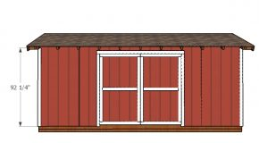 8×20 Gable Shed Doors Plans