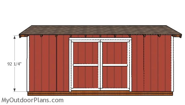 8x20 Gable Shed Doors Plans