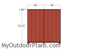 Side wall siding