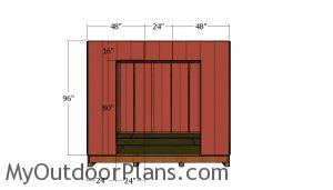 Side wall with doors siding