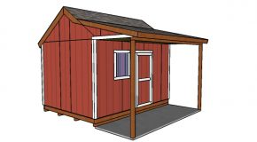 10×14 Shed with Side Porch Plans