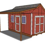 10×16 Shed with Side Porch Plans