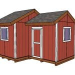 12×8 8×8 Gable Shed Plans
