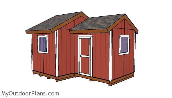 12x8 8x8 Gable Shed Plans