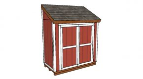 4×8 Attached Shed Plans