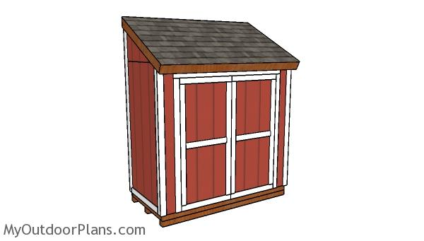4x8 Attached Shed Plans