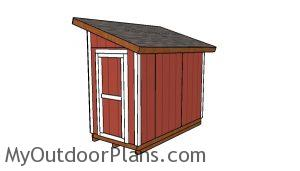 5x10 Lean to Shed Plans