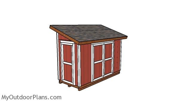 5x12 Lean to Shed Plans