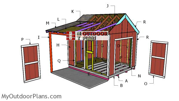 Building-a-10x12-shed-with-porch