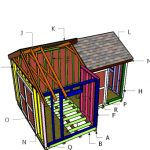 12×8 8×8 Gable Shed Roof Plans