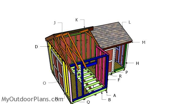 12x8 8x8 Gable Shed Roof Plans