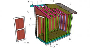 5×10 Lean to Shed Roof Plans
