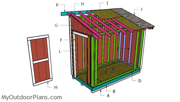 5x10 Lean to Shed Roof Plans