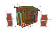 5×12 Pent Shed Roof Plans