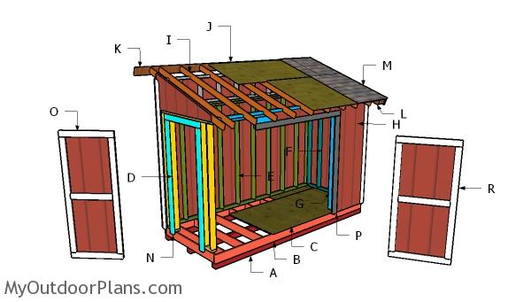 5x12 Pent Shed Roof Plans