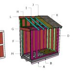 4×8 Bike Shed Roof Plans