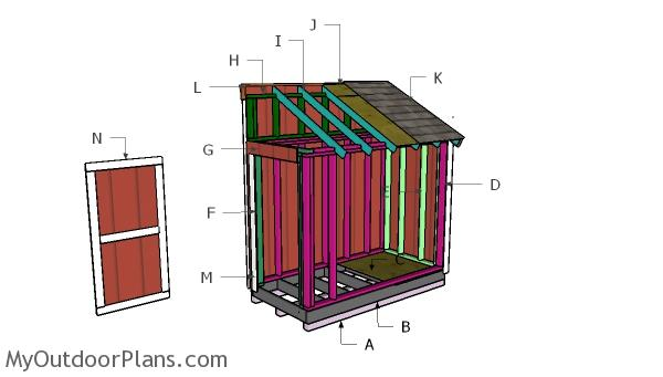 4x8 Bike Shed Roof Plans